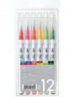 Clean Color Real Brush Marker 12 colors