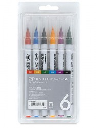 Clean Color Real Brush Marker 6 colors